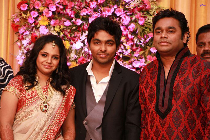 A.R. Rahman Sir At G V Prakash & Saindhavi Wedding Reception